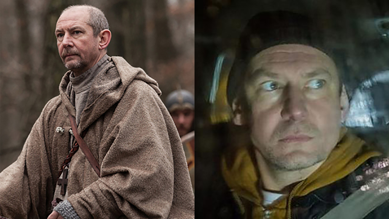 Ian Hart in 'The Last Kingdom' (left) and 'The Driver.' (Photos: BBCA/BBC One)