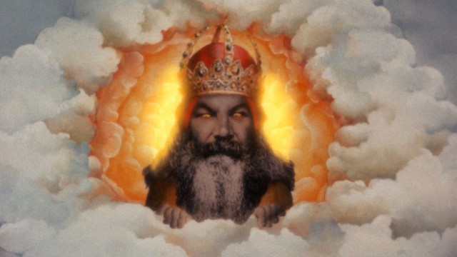 The Victorian cricketer W.G. Grace plays God in 'Monty Python and the Holy Grail' (Photo: Cinema 5/EMI Films)
