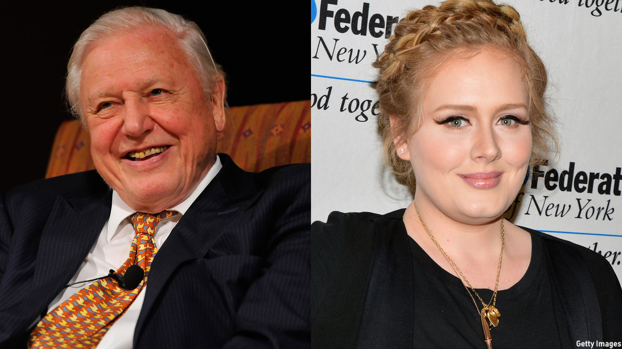 "Sir David Attenborough narrates Adele's ""Hello"" video. (Getty Images)"