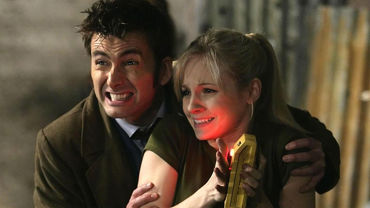 David Tennant and Georgia Moffat in 'The Doctor's Daughter' (Photo: BBC)