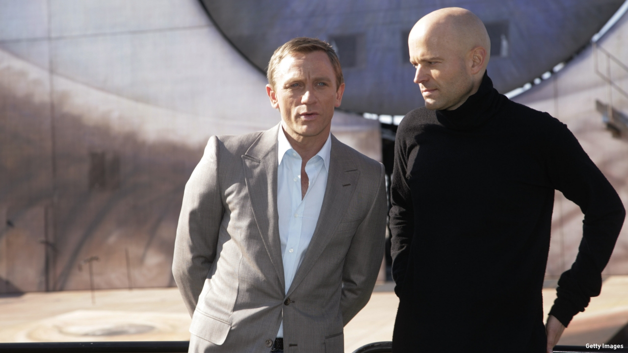 Marc Forster (right) with Daniel Craig on the set of 'Quantum of Solace.' (Pic: Getty Images)
