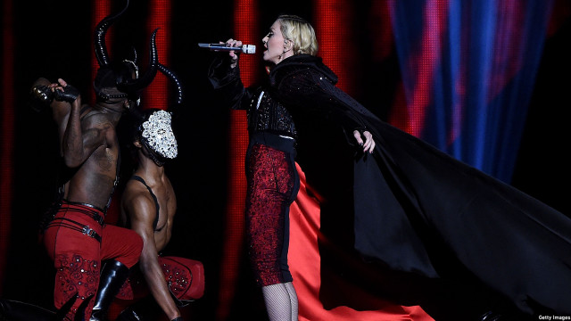 Madonna at the Brit Awards 2015 (Photo: Gareth Cattermole/Getty Images)