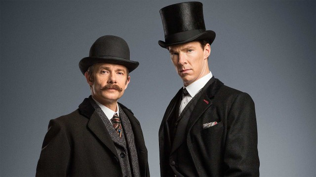 Martin Freeman and Benedict Cumberbatch in 'Sherlock: The Abominable Bride' (Photo: BBC)