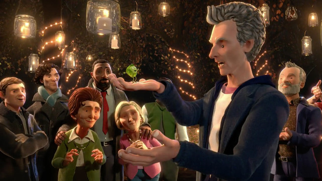 The Doctor (and friends) meet Sprout Boy (Photo: BBC)
