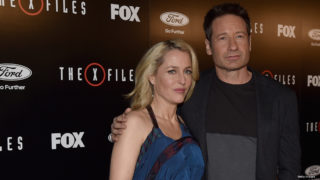 "LOS ANGELES, CA – JANUARY 12:  Actors Gillian Anderson and David Duchovny attend the premiere of Fox's ""The X-Files"" at California Science Center on January 12, 2016 in Los Angeles, California."