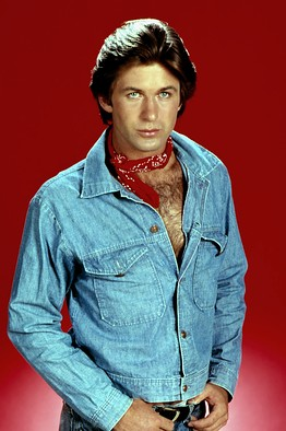 Alec Baldwin went all denim on the soap opera The Doctors in the early 1980s. (Photo: NBC)