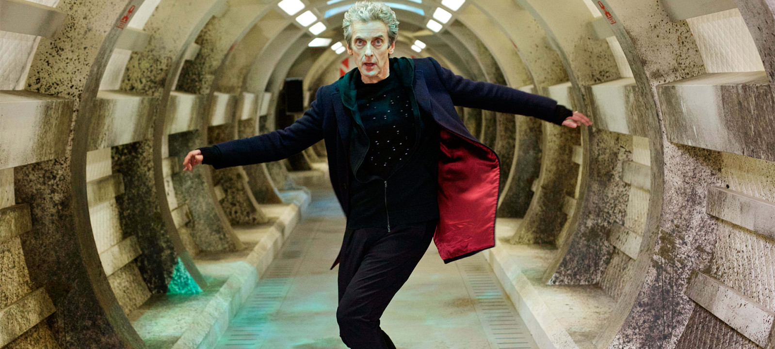 Peter Capaldi in full twist as the Doctor (Photo: BBC)