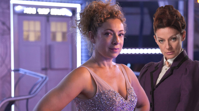 River Song in that dress, and Missy (Photo: BBC)