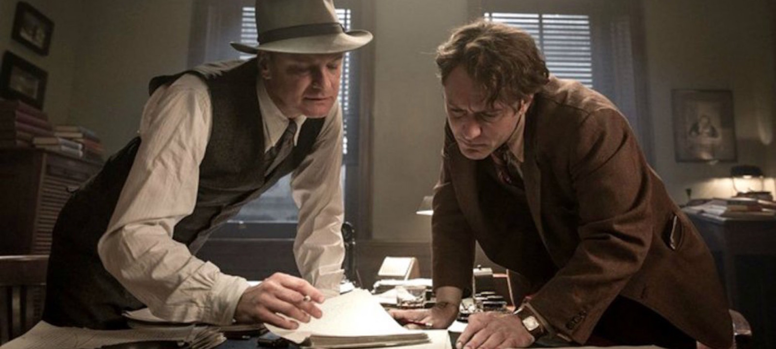 Colin Firth and Jude Law star in Genius.