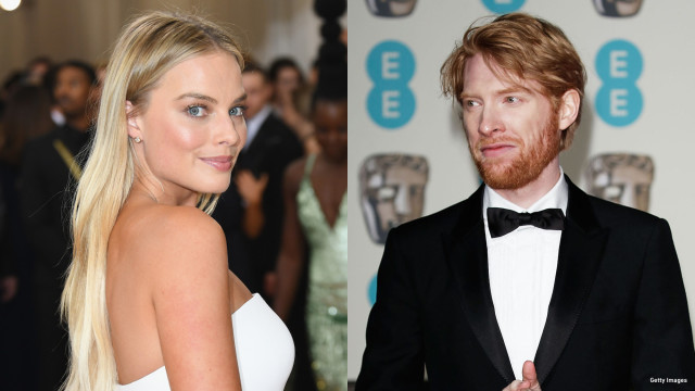 Margot Robbie and Domhnall Gleeson