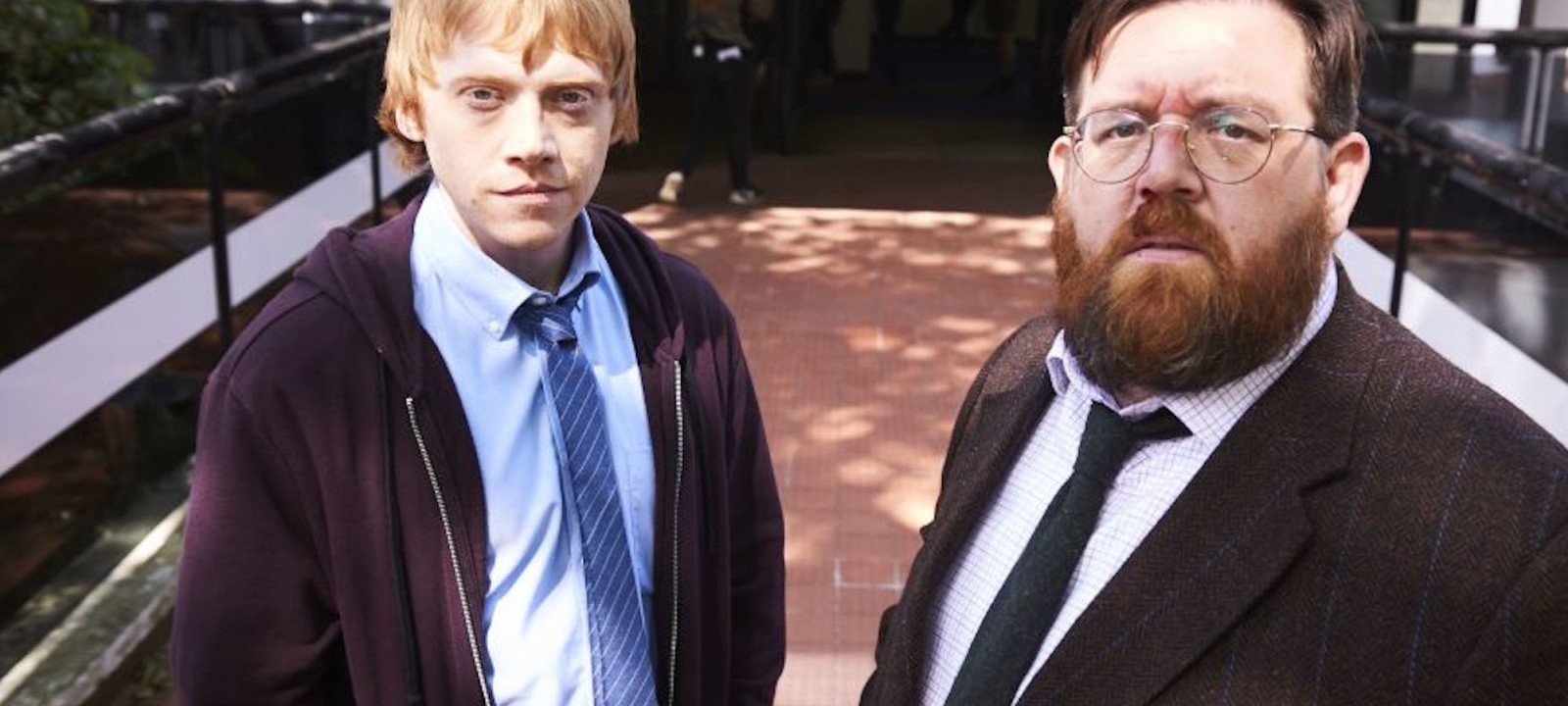 Rupert Grint and Nick Frost in 'Sick Note'