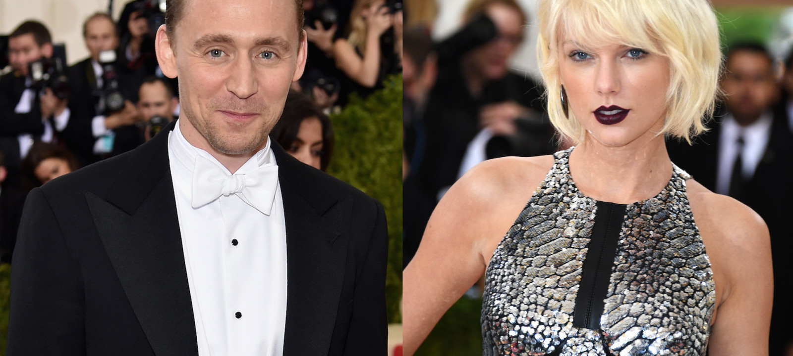 Tom Hiddleston and Taylor Swift arrive at the 2016 Met Gala