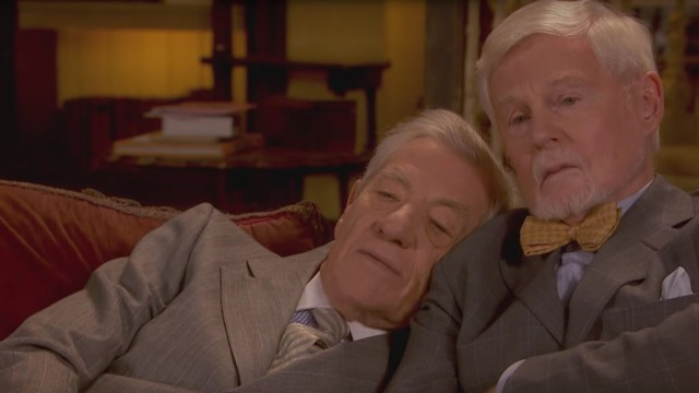 Ian McKellen and Derek Jacobi watch Eurovision