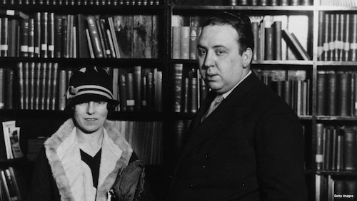 Hitchcock with his wife the screenwriter Alma Reville in 1926. (Photo: Getty Images)
