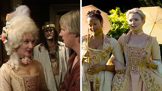 'Black Orchid' / 'The Girl in the Fireplace' (Photos: BBC)