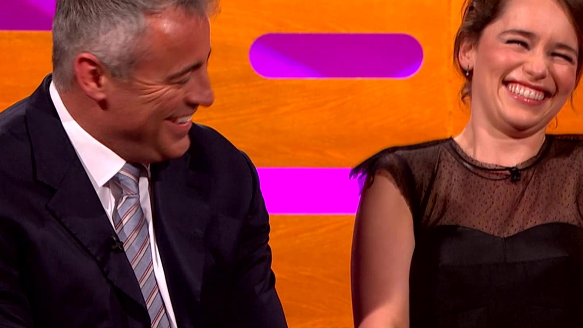 Matt LeBlanc Asks Emilia Clarke 'How You Doin'?' | The