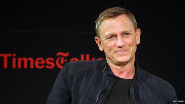 """Actor Daniel Craig chats with moderator Logan Hill during the """"Times Talks Presents: Spectre, An Evening With Daniel Craig And Sam Mendes' event at The New School on November 4, 2015 in New York City."""