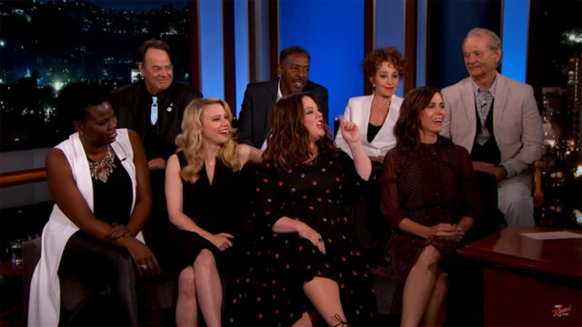 'Ghostbusters' cast old and new on Jimmy Kimmel Live