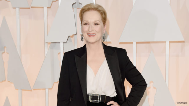 Actress Meryl Streep attends the 87th Annual Academy Awards at Hollywood & Highland Center on February 22, 2015 in Hollywood, California.