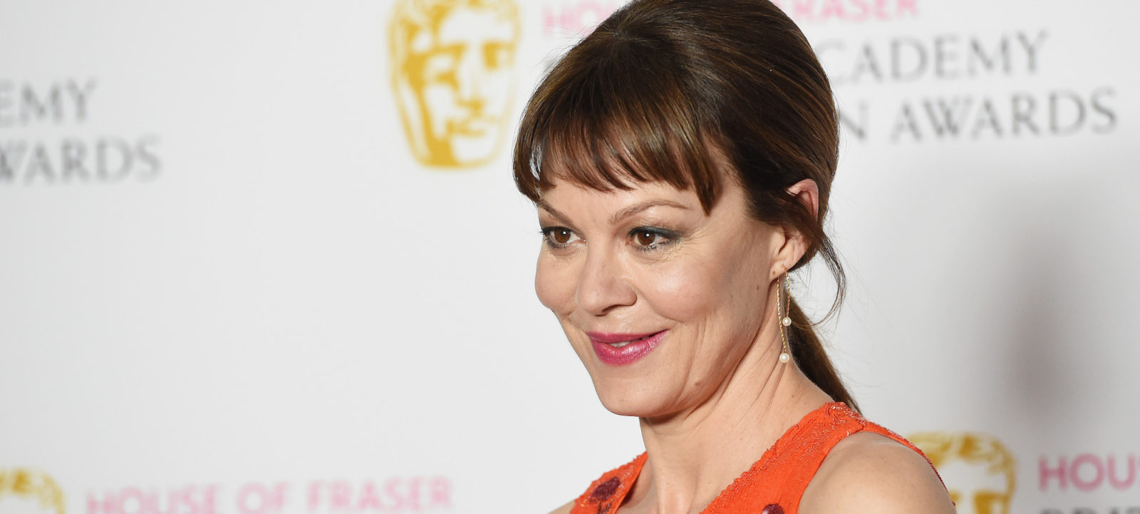 Helen McCrory poses in the Winners room at the House Of Fraser British Academy Television Awards 2016  at the Royal Festival Hall on May 8, 2016 in London, England.