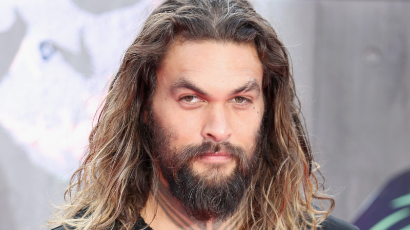 """Jason Momoa attends the European Premiere of """"Suicide Squad"""" at the Odeon Leicester Square on August 3, 2016 in London, England."""