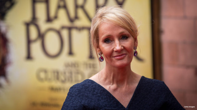 "J. K. Rowling attends the press preview of ""Harry Potter & The Cursed Child"" at Palace Theatre on July 30, 2016 in London, England. Harry Potter and the Cursed Child, is a two-part West End stage play written by Jack Thorne based on an original new story by Thorne, J.K. Rowling and John Tiffany."