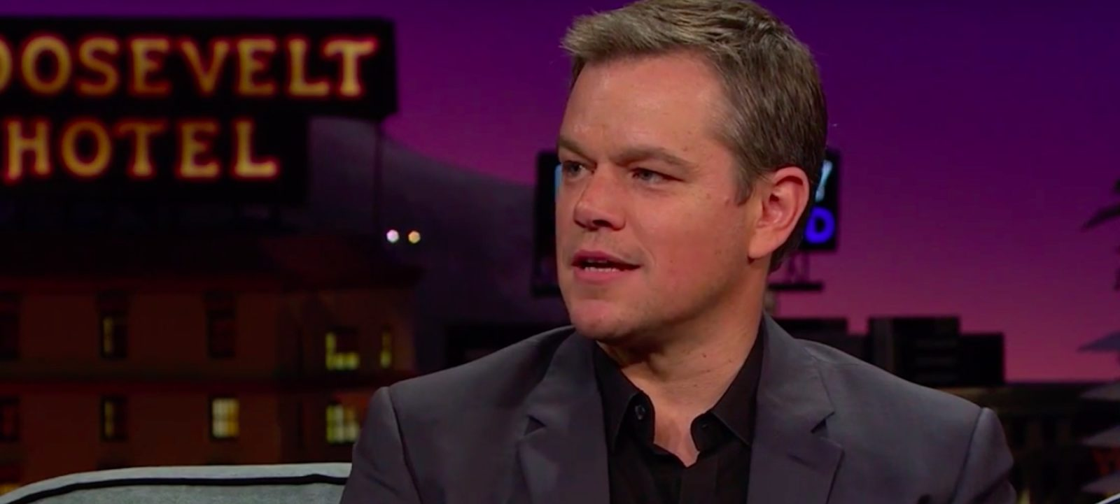 Matt Damon on 'The Late Late Show with James Corden'