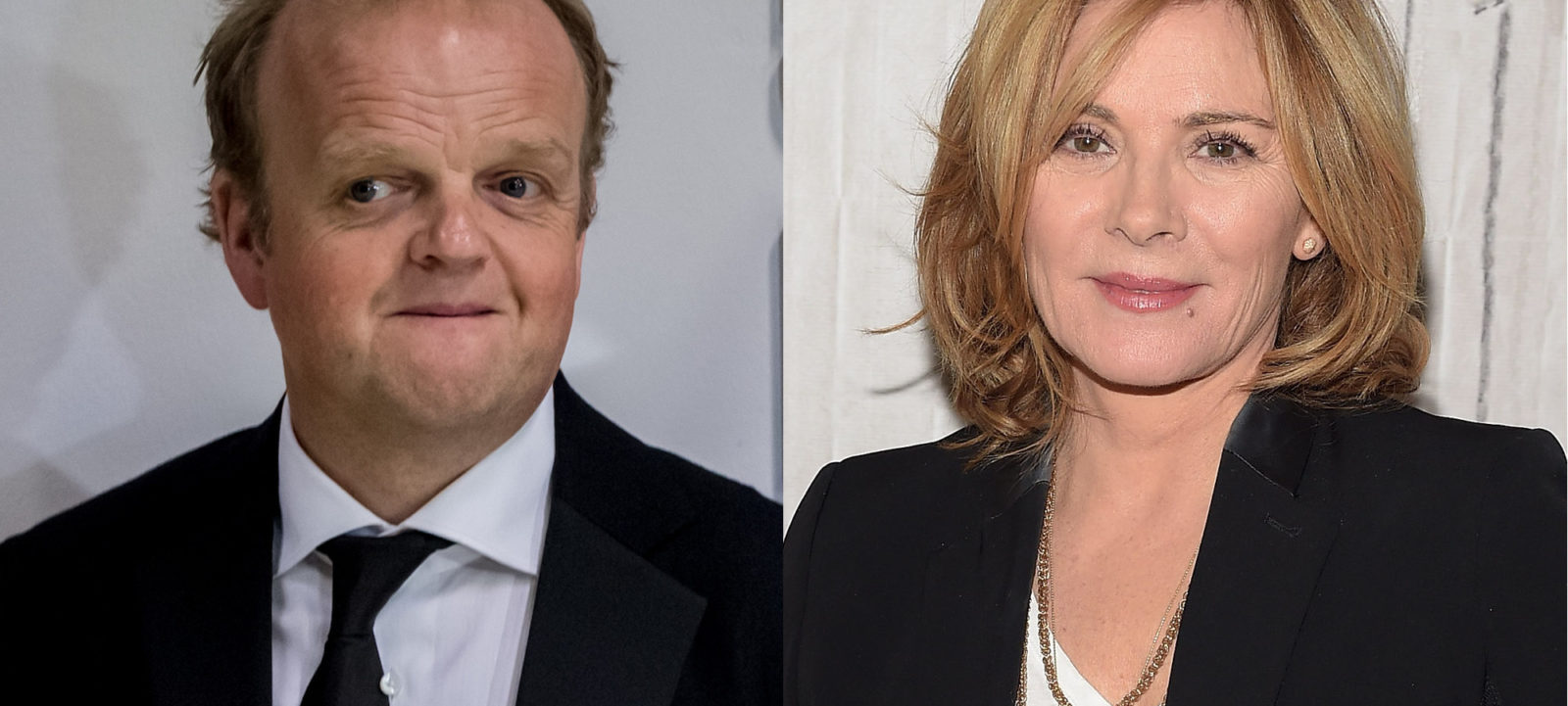 Toby Jones and Kim Cattrall composite