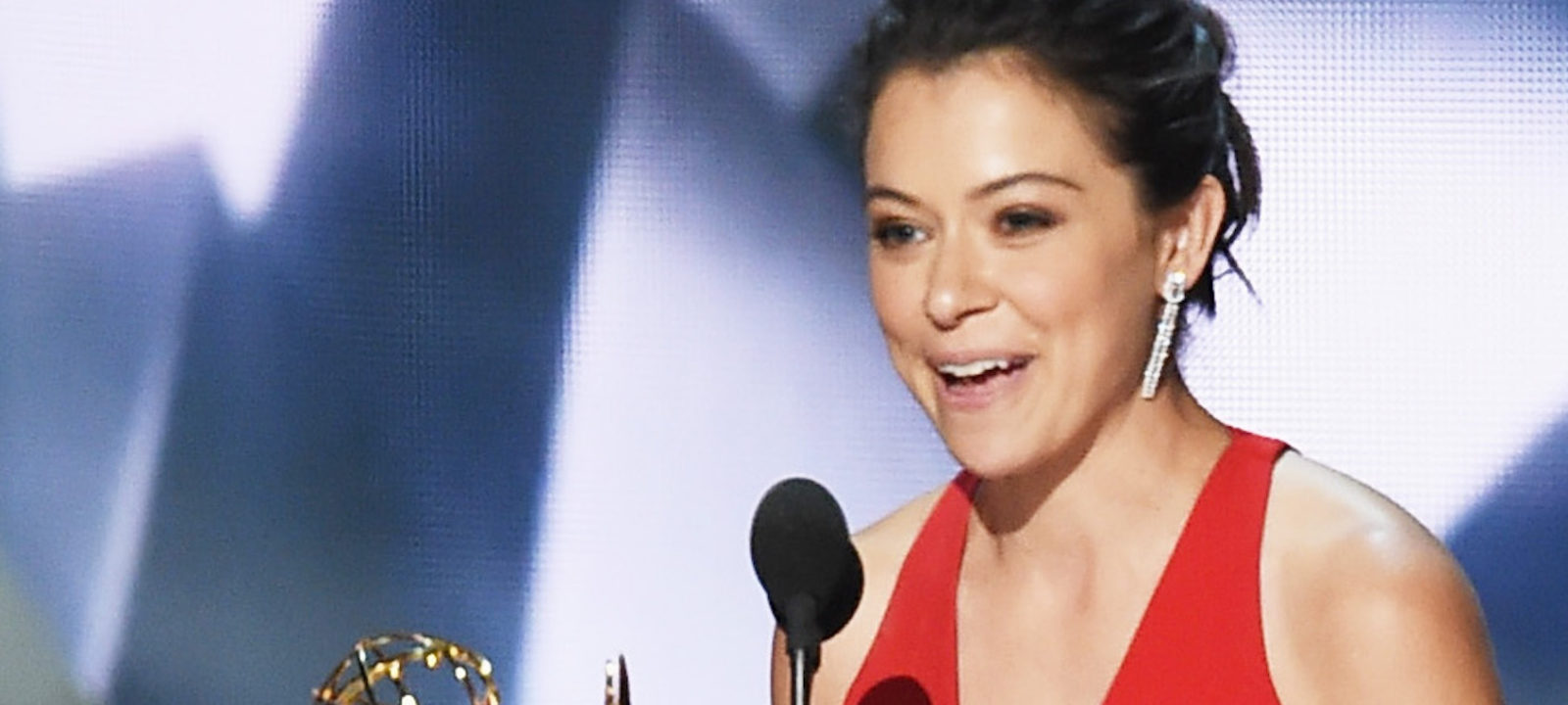 Actress Tatiana Maslany accepts Outstanding Lead Actress in a Drama Series for 'Orphan Black' onstage during the 68th Annual Primetime Emmy Awards at Microsoft Theater on September 18, 2016 in Los Angeles, California.