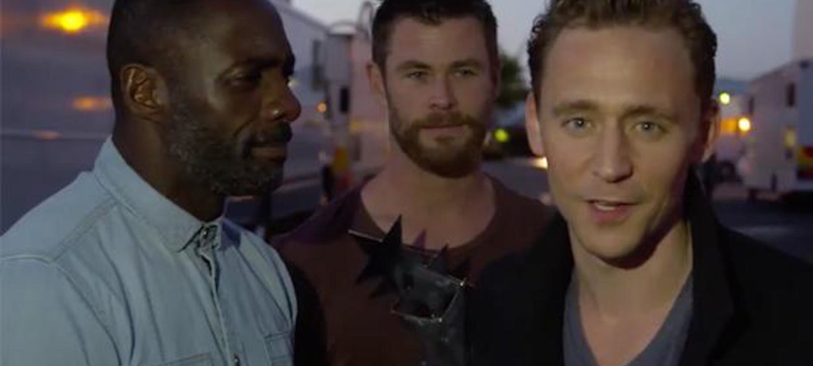 Idris Elba, Chris Hemsworth and Tom Hiddleston