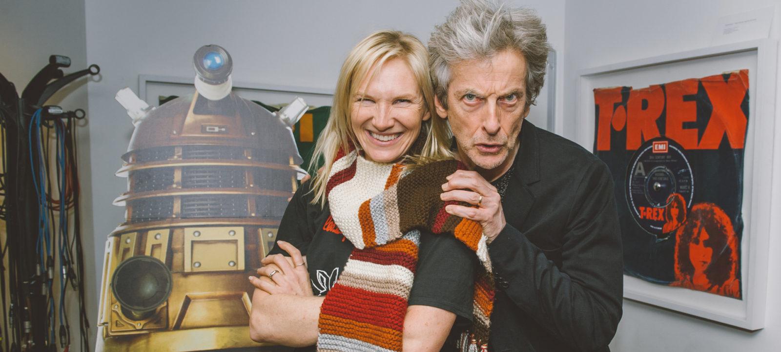 Peter Capaldi and BBC Radio 2's Jo Whiley (Photo: BBC)