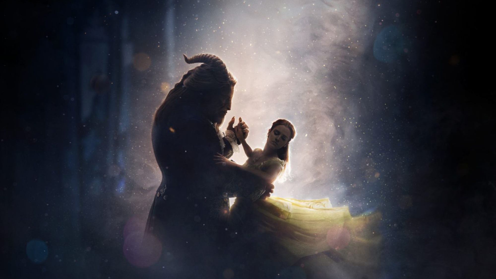The poster for Dan Stevens and Emma Watson's 'Beauty and the Beast'. (Pic: Disney)