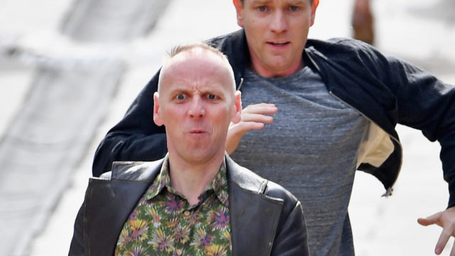 Actors Ewan McGregor and Ewan Bremner run on the set of the Trainspotting film sequel on Princess Street on July 13, 2016 in Edinburgh, Scotland. The long awaited Trainspotting 2 is being filmed in Edinburgh and Glasgow, 20 years after the original was released and it will also see the cast from the first film returning including Ewan McGregor, Jonny Lee Miller and Robert Carlyle.