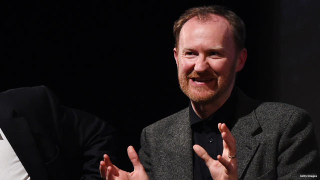 """Steven Moffat and Mark Gatiss during Q&A for episode three preview screening of """"Sherlock"""" at BFI Southbank on January 12, 2017 in London, England."""