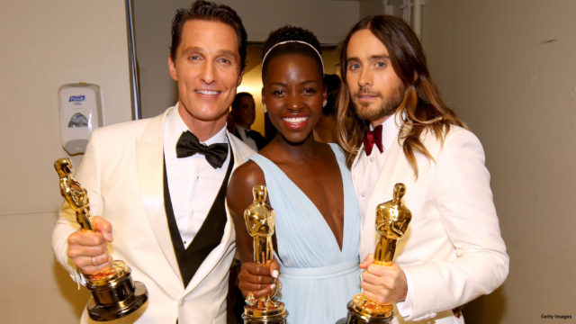 BAFTA predicted Lupita Nyong'o's Oscar win, but not Matthew McConaughey and Jared Leto's (Photo: Getty Images)