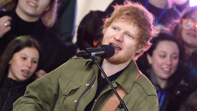 """Ed Sheeran performs on NBC's """"Today"""" at Rockefeller Plaza on March 8, 2017 in New York City."""
