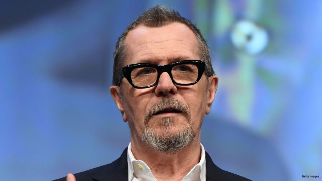 Actor Gary Oldman speaks onstage at Focus Features luncheon and studio program celebrating 15 Years during CinemaCon at The Colosseum at Caesars Palace on March 29, 2017 in Las Vegas, Neva / AFP PHOTO / ANGELA WEISS
