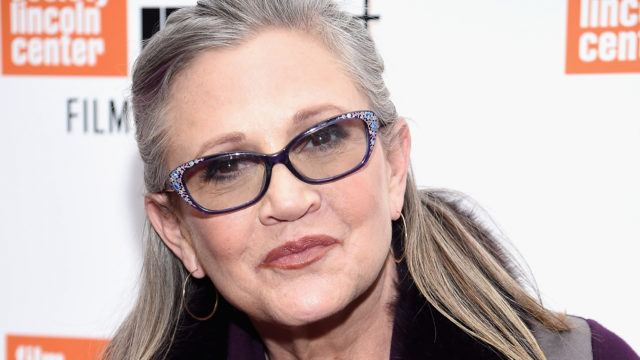 """Carrie Fisher attends the 54th New York Film Festival – """"Bright Lights"""" Photo Cal on October 10, 2016 in New York City."""