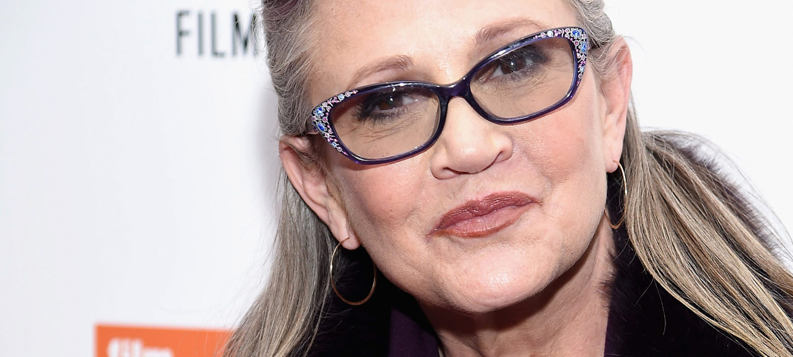 "Carrie Fisher attends the 54th New York Film Festival – ""Bright Lights"" Photo Cal on October 10, 2016 in New York City."