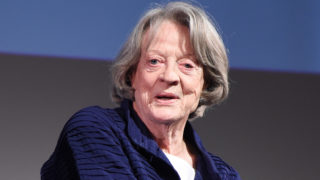 "Maggie Smith speaks on stage during the ""In Conversation With"" chaired by Mark Lawson at the BFI & Radio Times TV Festival at the BFI Southbank on April 8, 2017 in London, England."