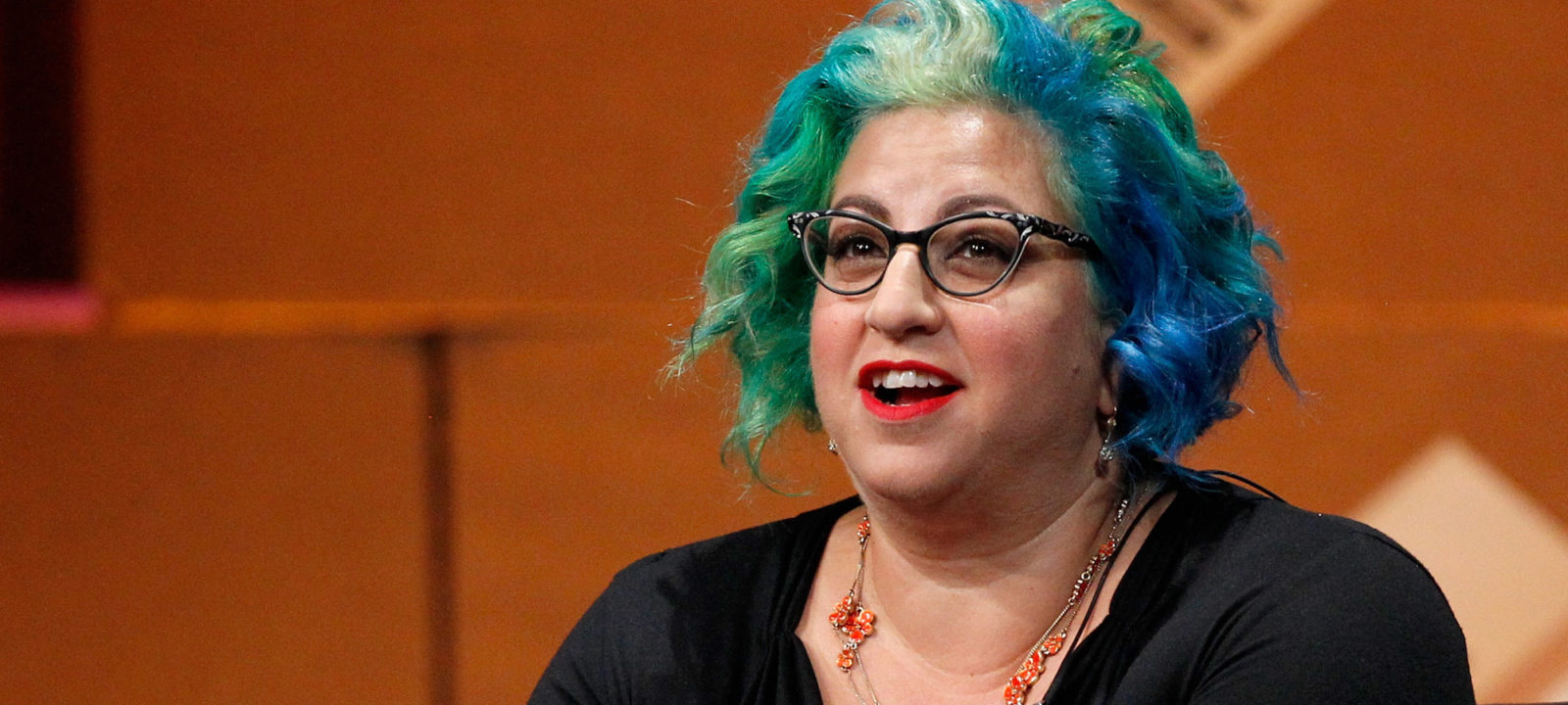 """Filmmaker Jenji Kohan speaks onstage during """"The Golden Age of Drama"""" at the Vanity Fair New Establishment Summit at Yerba Buena Center for the Arts on October 9, 2014 in San Francisco, California."""