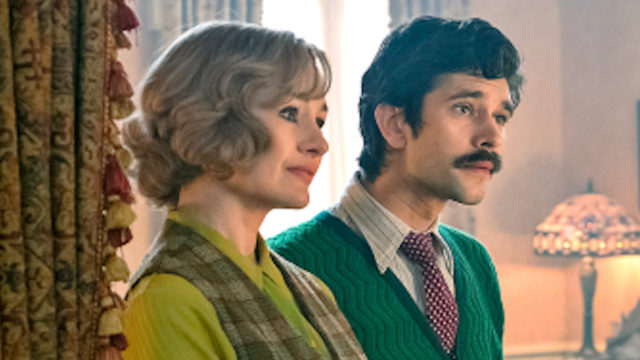 Emily Mortimer, Ben Whishaw, and Emily Blunt in 'Mary Poppins Returns'