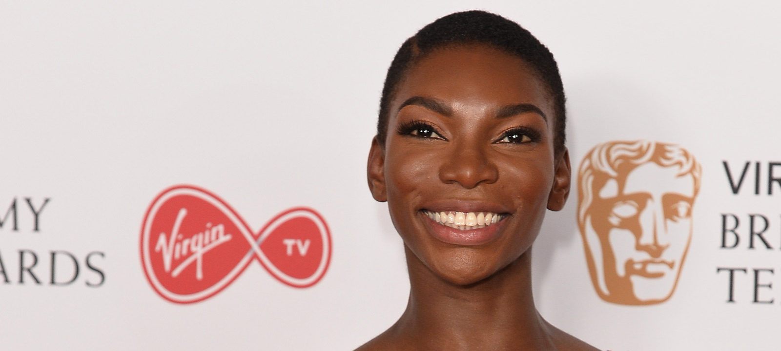 Michaela Coel poses in the Winner's room at the Virgin TV BAFTA Television Awards at The Royal Festival Hall on May 14, 2017 in London, England.