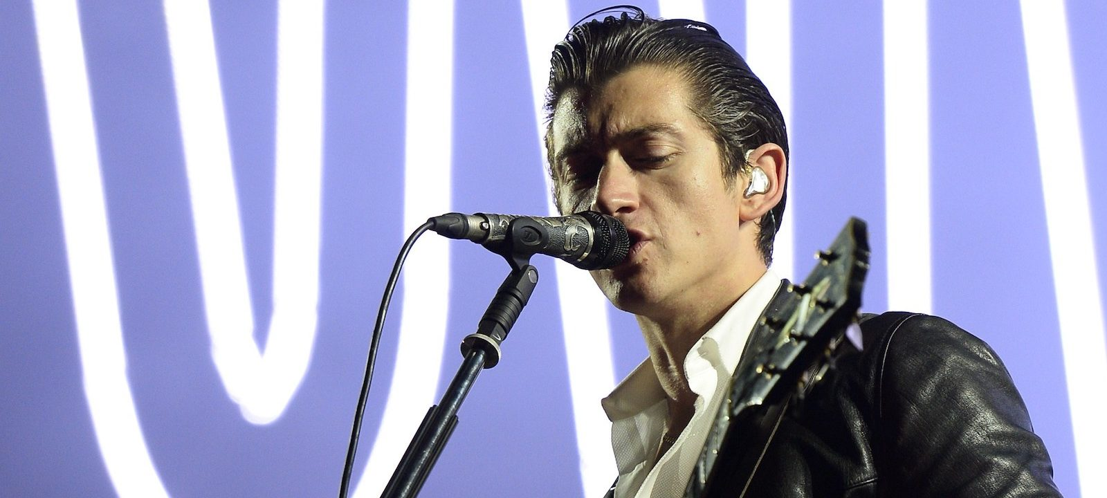 Alex Turner of British band Arctic Monkeys performs on stage during the Rock-en-Seine music festival on August 22, 2014 in Saint-Cloud, near Paris.