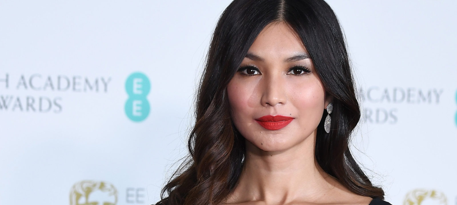 Gemma Chan poses in the press room during the EE British Academy Film Awards (BAFTA) held at Royal Albert Hall on February 18, 2018 in London, England.