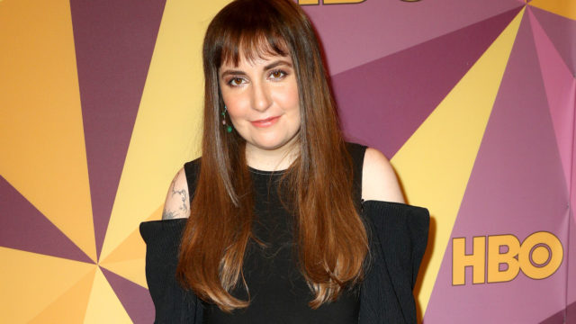 Lena Dunham attends HBO's Official Golden Globe Awards After Party at Circa 55 Restaurant on January 7, 2018 in Los Angeles, California.