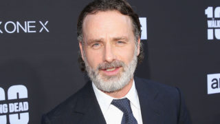 Andrew Lincoln arrives at The Walking Dead 100th Episode Premiere and Party on October 22, 2017 in Los Angeles, California.