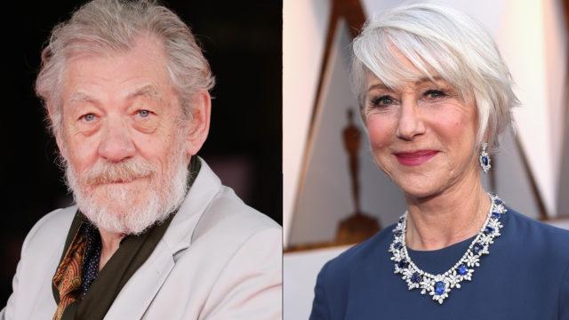 Sir Ian McKellen and Dame Helen Mirren composite