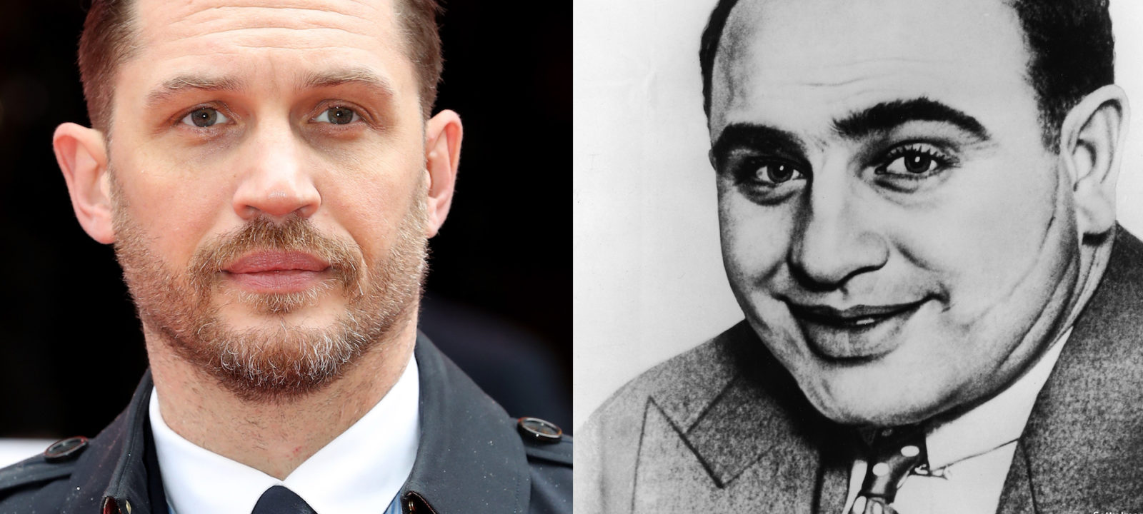 Tom Hardy and Al Capone (composite)
