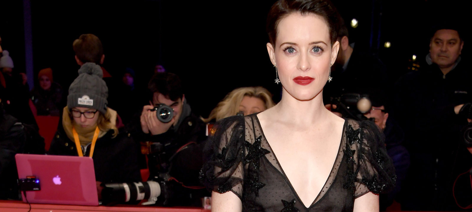 Claire Foy attends the 'Unsane' premiere during the 68th Berlinale International Film Festival Berlin at Berlinale Palast on February 21, 2018 in Berlin, Germany.